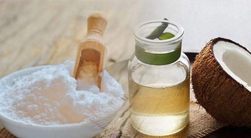 trị hôi nách bằng baking soda và dầu dừa
