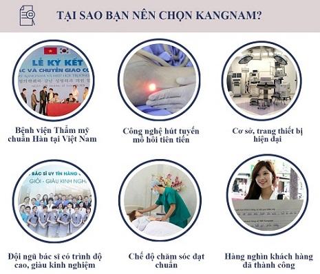 Trị hôi nách tại Kangnam giá bao nhiêu tiền