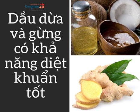 chữa bệnh hôi nách bằng dầu dừa
