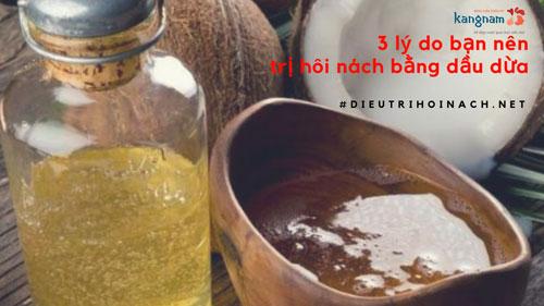 trị hôi nách bằng dầu dừa