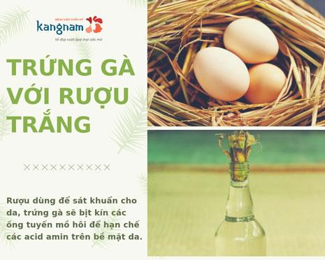 trị hôi nách tại nhà bằng trứng gà