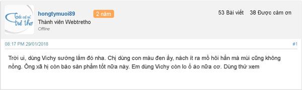 lăn khử mùi Vichy trắng