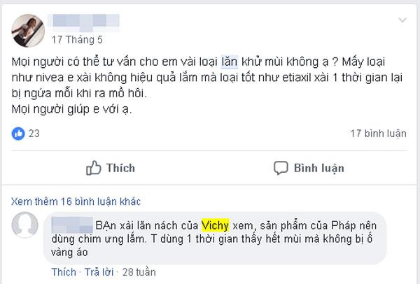 lăn nách không mùi Vichy