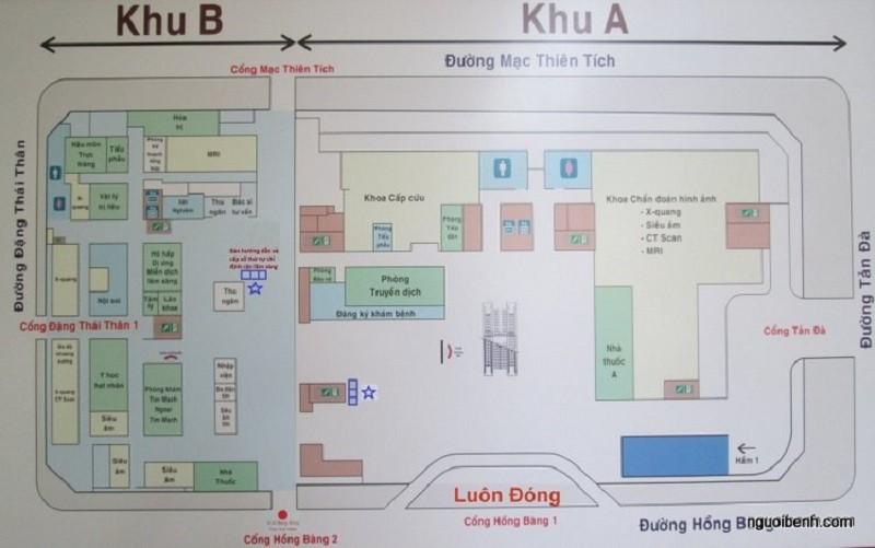 bệnh viện đại học y dược bản đồ