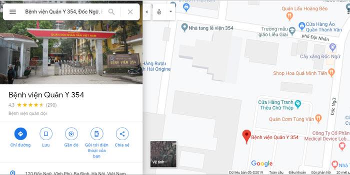 địa chỉ bệnh viện 354